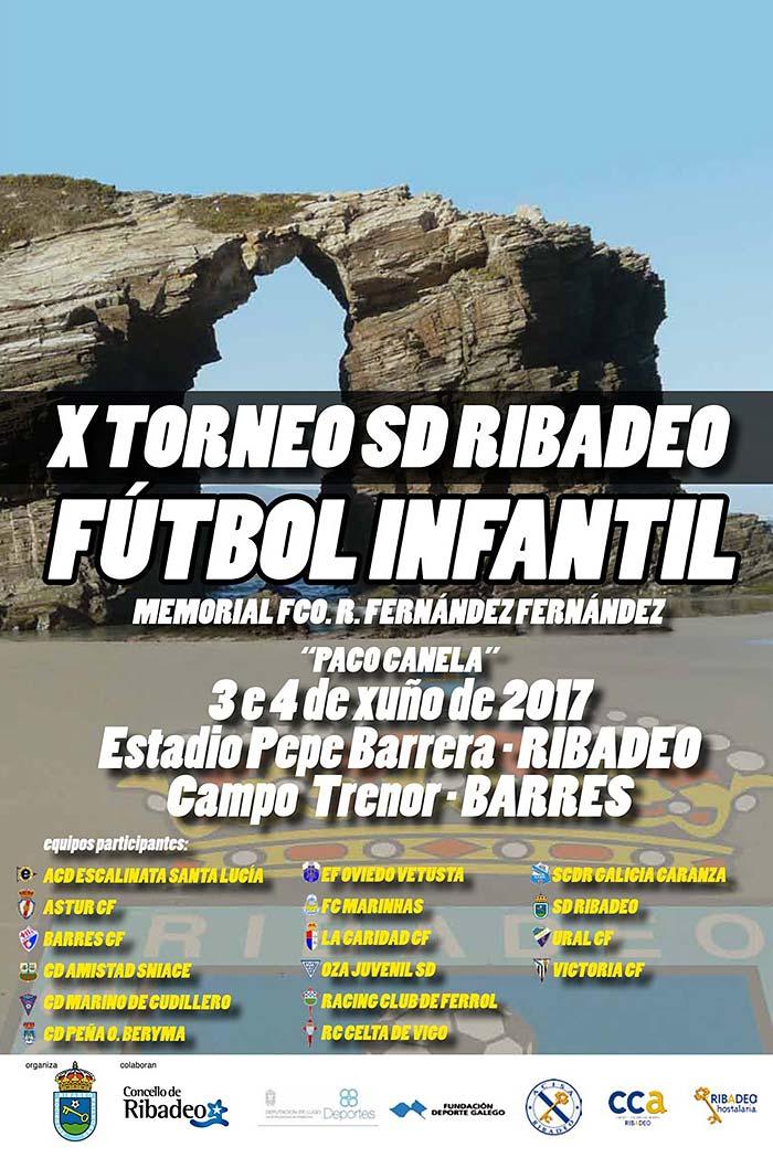 Cartel 10ª Edición del Torneo Infantil de La S.D. Ribadeo