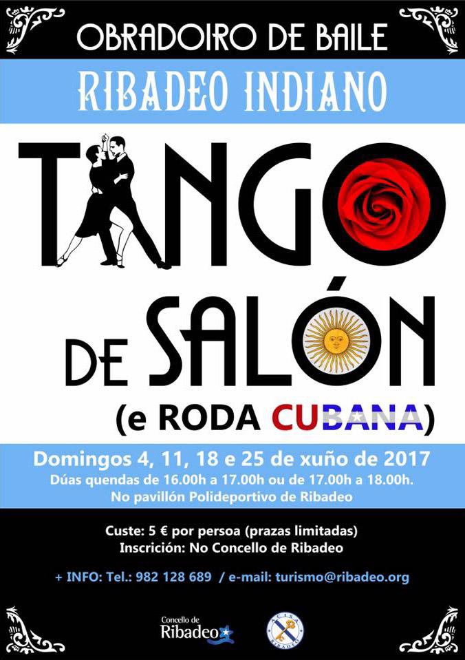 Comezou a conta atrás para a celebración do IV Ribadeo Indiano | Cartel Tango de Salón