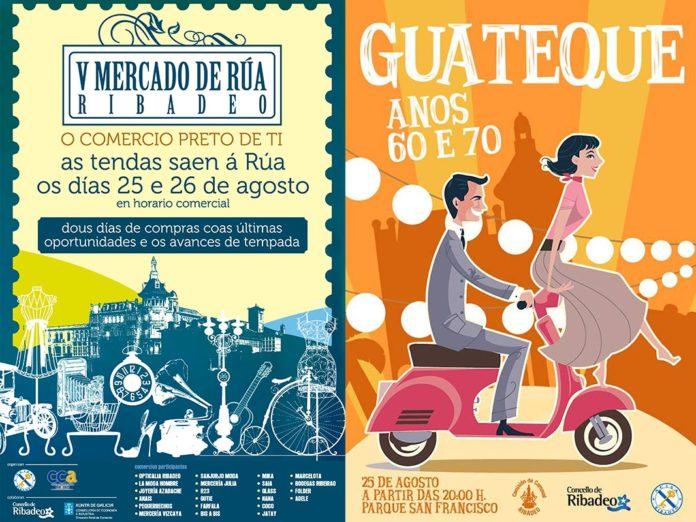 V Mercado de Rúa e Guateque anos 60 e 70 para despedir o verán