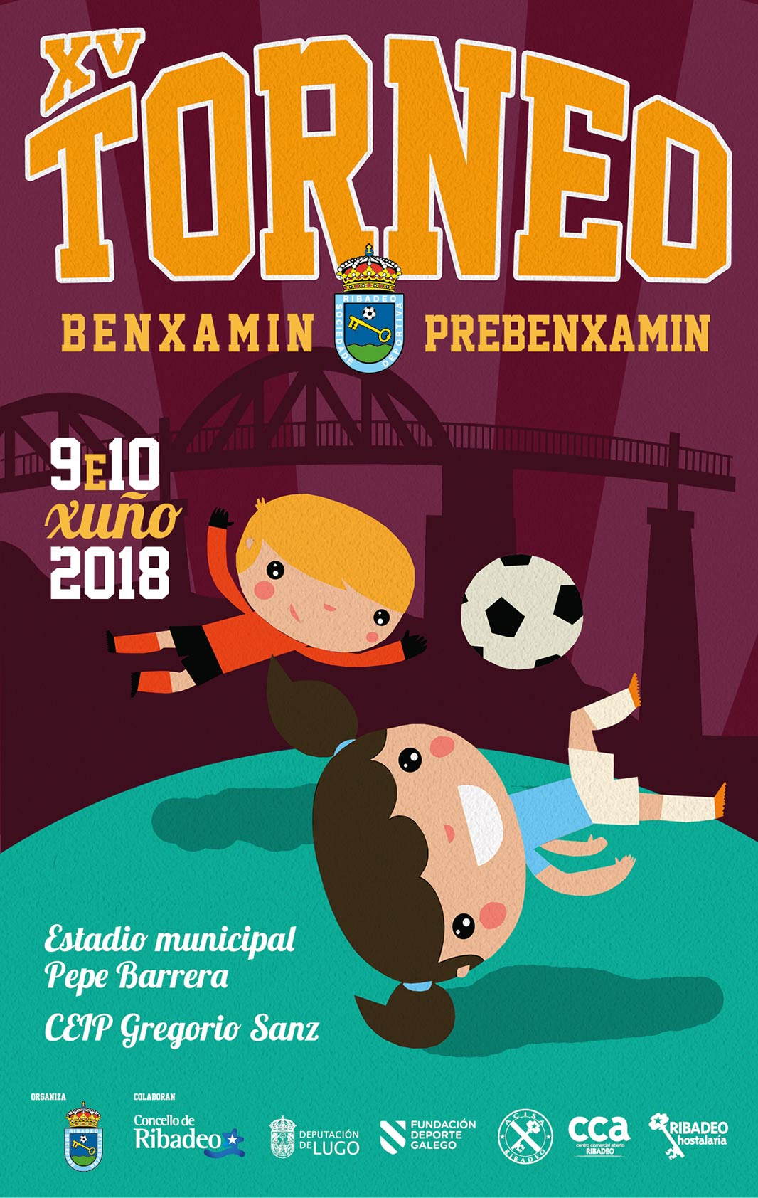 Os días 9 e 10 de xuño disputarase na vila o XV Torneo de Fútbol Base Benxamín e Prebenxamín, que organiza a SD Ribadeo