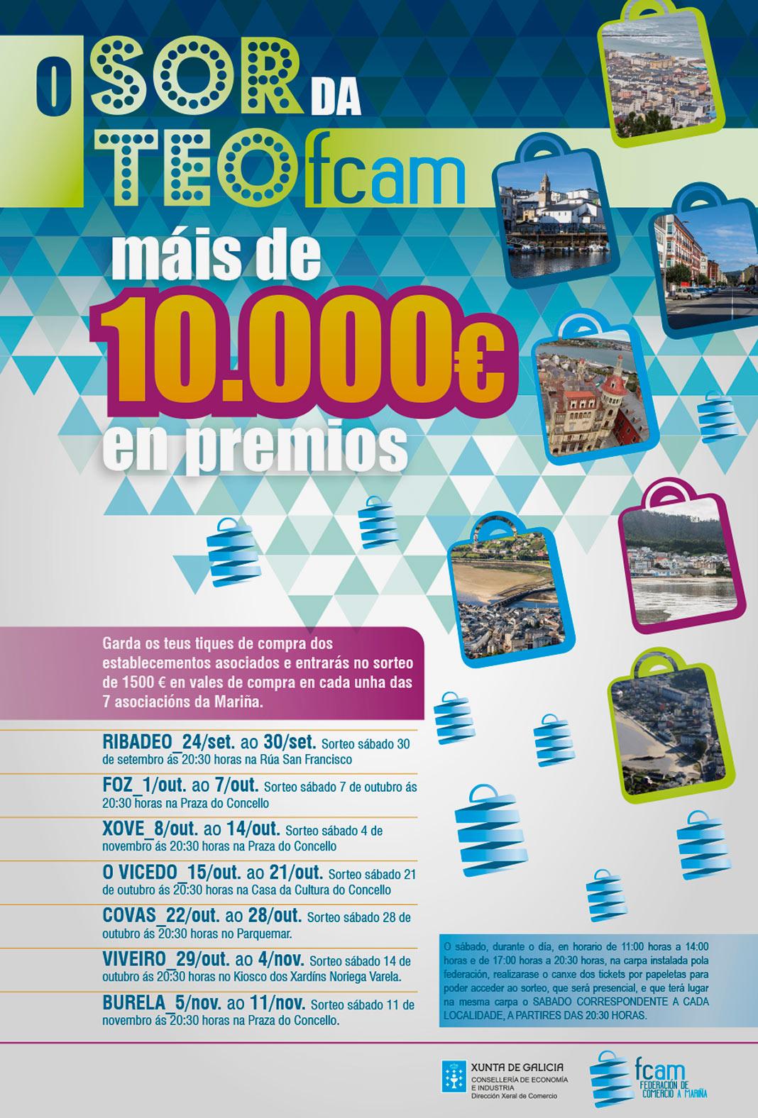 Cartel Sorteo FCAM con más de 10.000 euros en premios