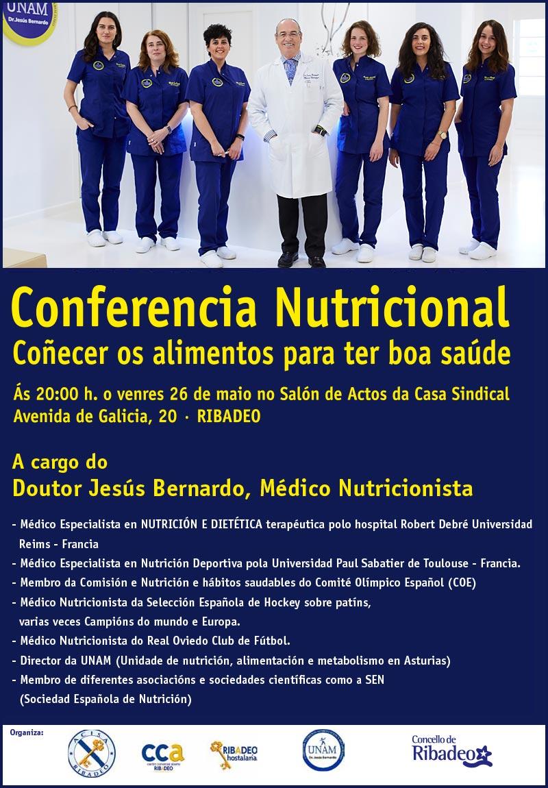 Conferencia nutricional Dr. Jesús Bernardo
